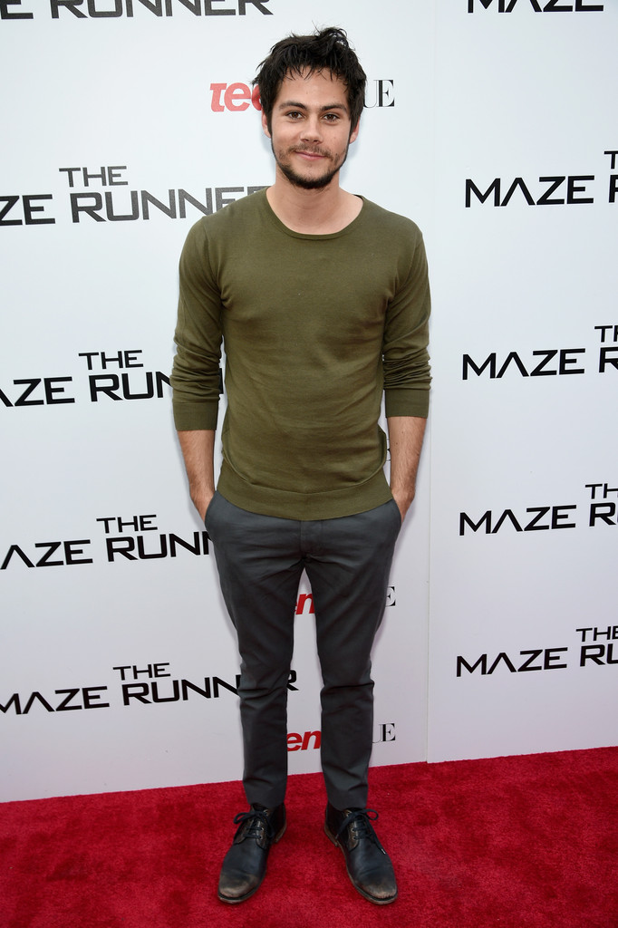 Dylan O'Brien Wears GANT Rugger to 'The Maze Runner' Screening