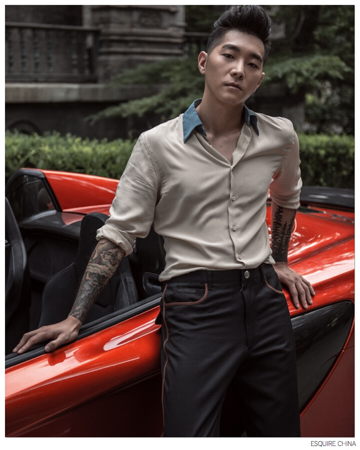 Tattoo Sleeves are in Vogue for Esquire China's Big Black Book