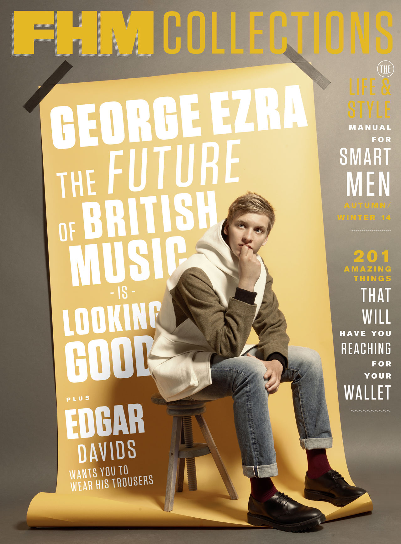 George Ezra Covers FHM Collections Fall/Winter 2014