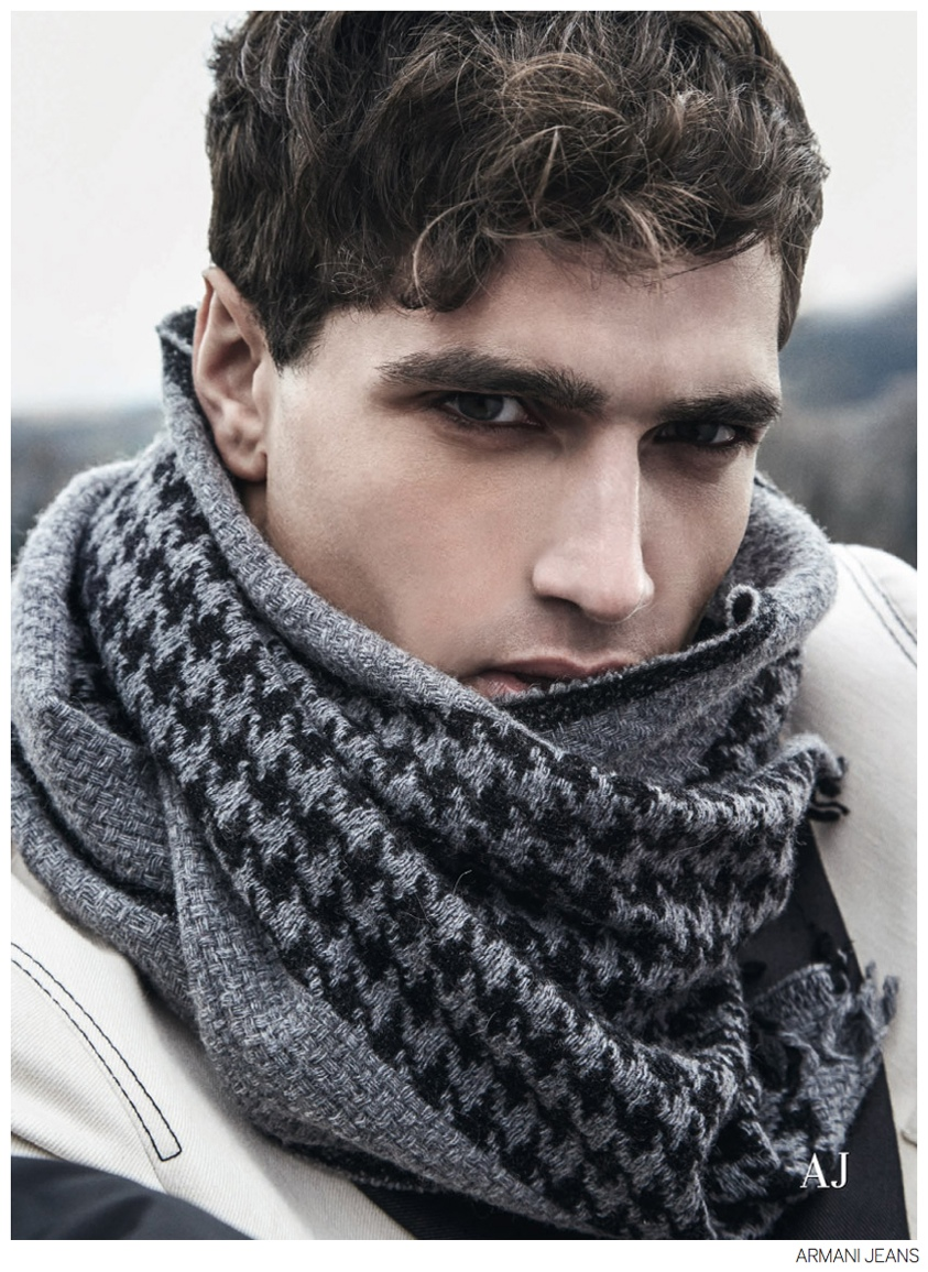 Fabio Mancini Models Armani Jeans' Fall 2014 Accessories
