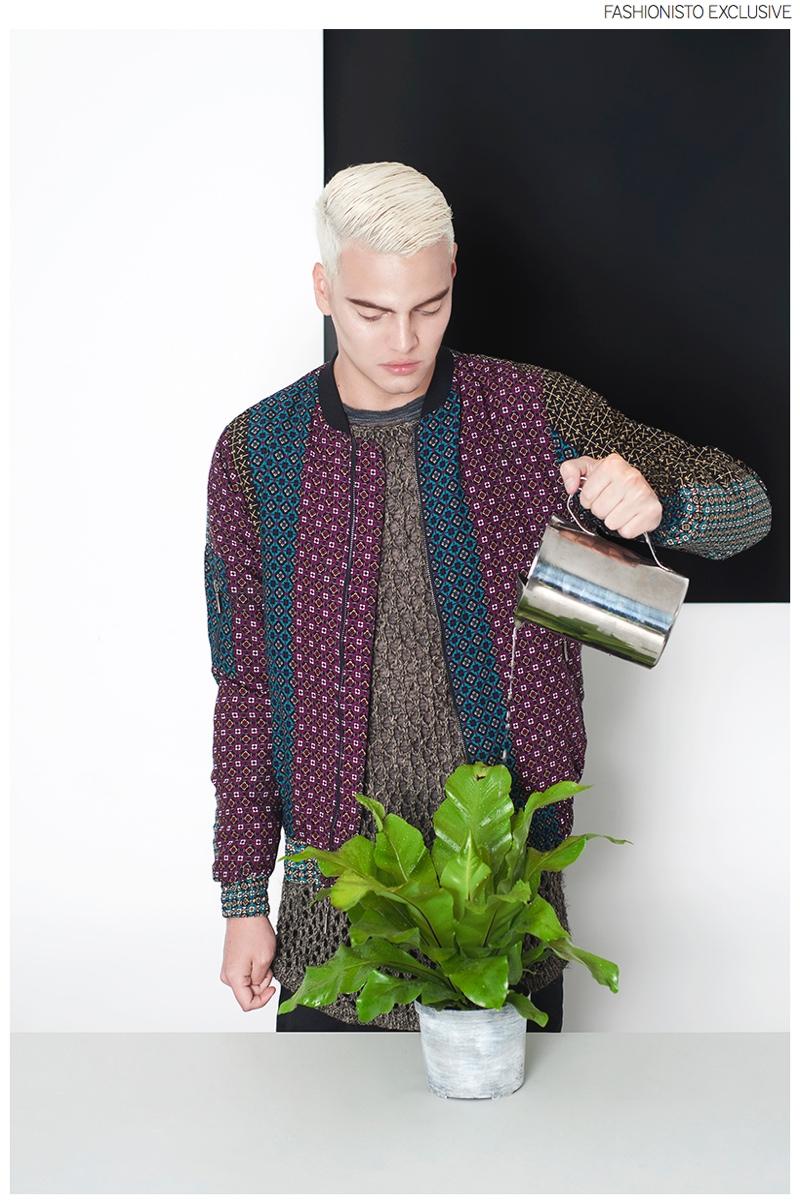 Juan wears vintage sweater stylist's own and jacket Juan.