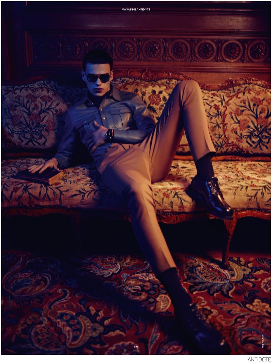 Filip Hrivnak Stars in Dark Fashion Editorial for Antidote