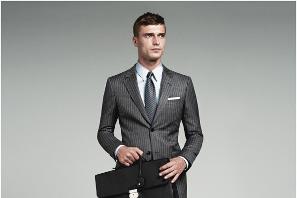 "The Brera - At once a traditional and contemporary suit, the ""Brera"" (named after the tony Milan neighborhood of the same name), celebrates the art of Italian tailoring. Trim but not tight, it molds to you."