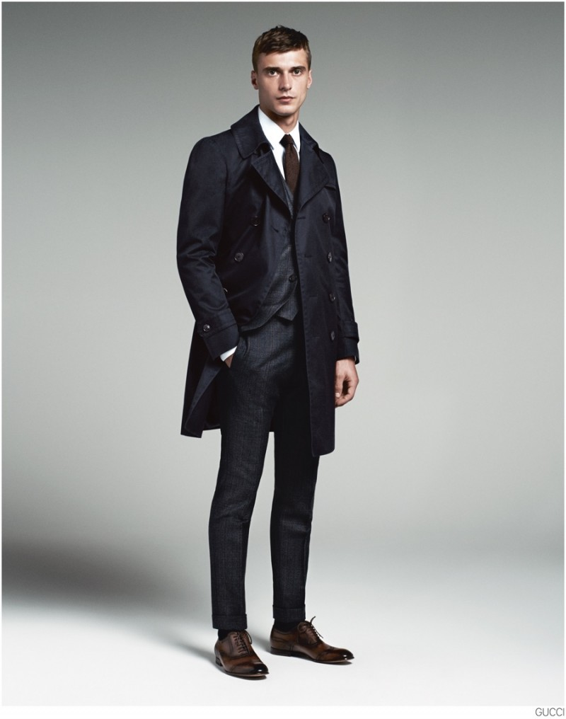 """The Heritage - Wider lapels, narrow shoulders and a healthy dose of swagger define the """"Heritage,"""" which draws its style from the 70s--the jet-set heyday of the Gucci man. Confident, cool, well-traveled."""