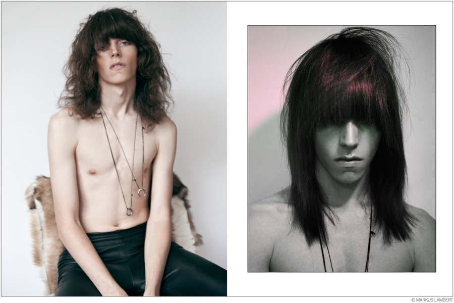 Harry Curran Poses for Glam Rock Photo Shoot by Markus Lambert