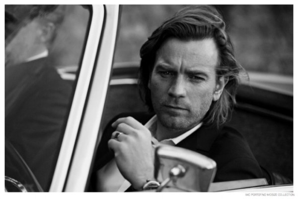Ewan McGregor takes a drive for the luxe black & white campaign.