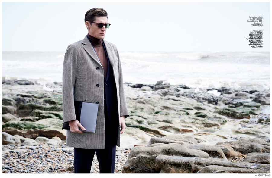 Isaac Carew Models Elegant Fall Fashions for August Man Malaysia