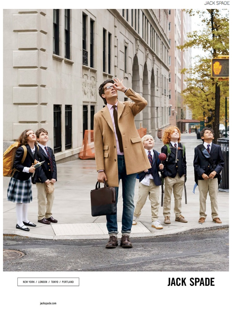 Matt Clunan Charms in Jack Spade Fall 2014 Campaign