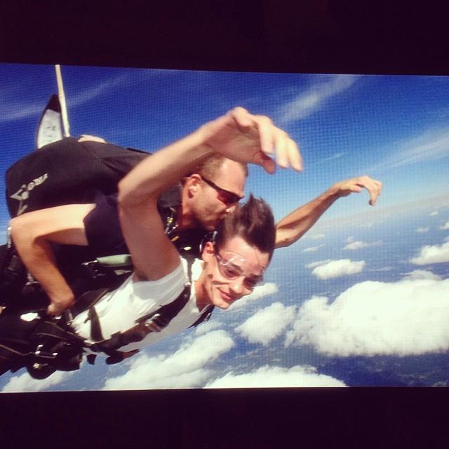 Jacob Morton jumps out of a plane.