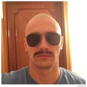 James Franco, one of the best brand ambassadors, models a pair of shades from Gucci