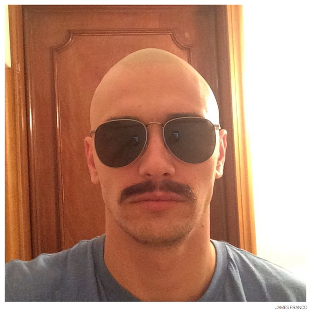 90938345ddc0 James Franco Goes Bald