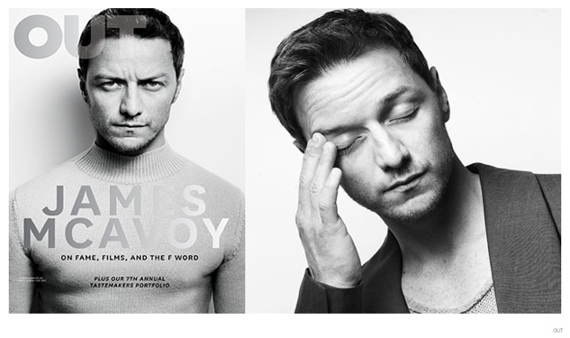 James McAvoy Covers OUT October 2014 Issue, Talks 'The Disappearance of Eleanor Rigby'