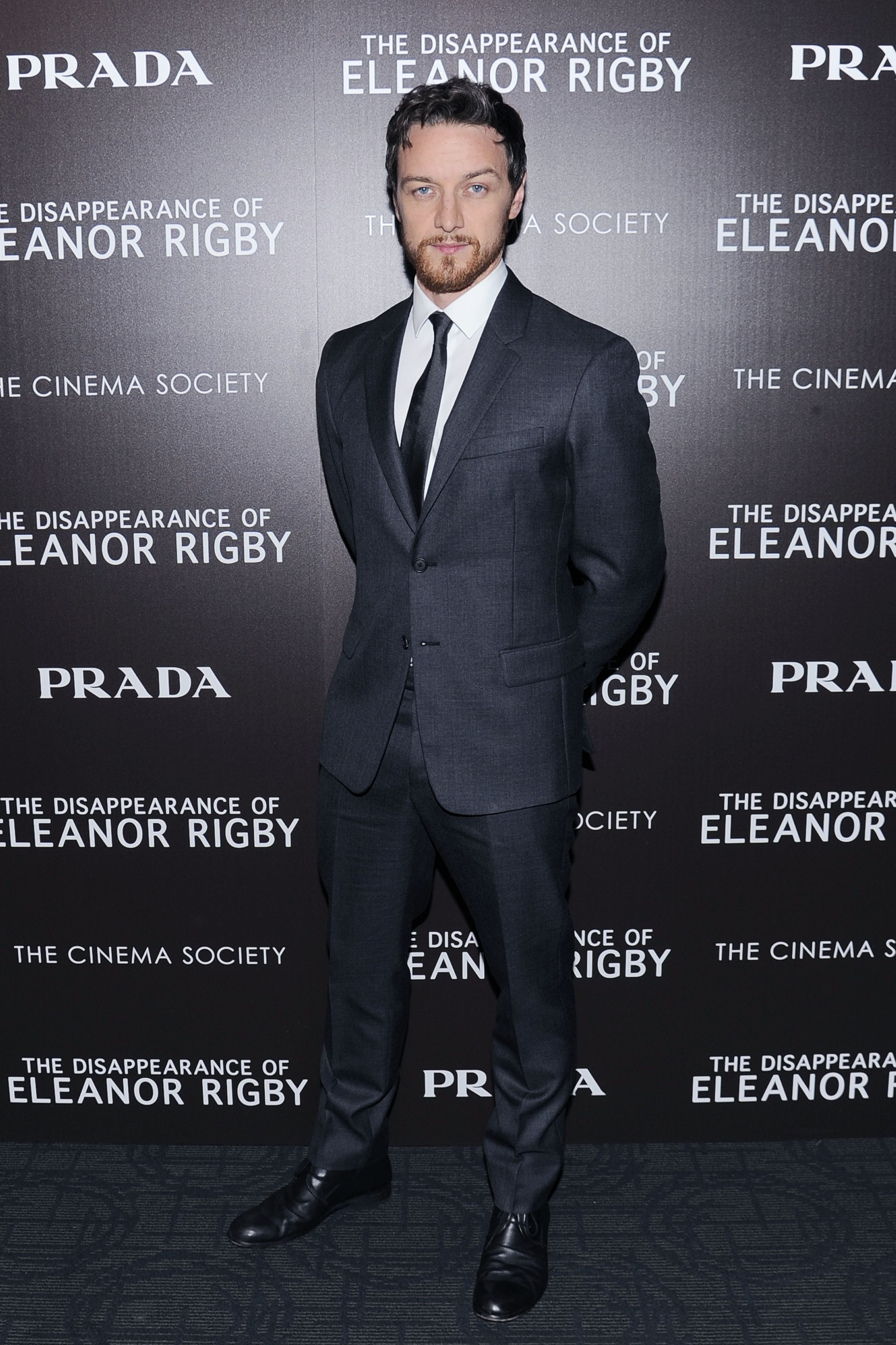 James McAvoy Wears Prada Suit to 'The Disappearance of Eleanor Rigby' Screening