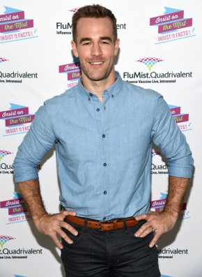 Attending a FluMist Quadrivalent event on September 15th to film a campaign video, actor James Van Der Beek cleaned up nicely in a double-denim ensemble, finished with a smart brown leather belt.