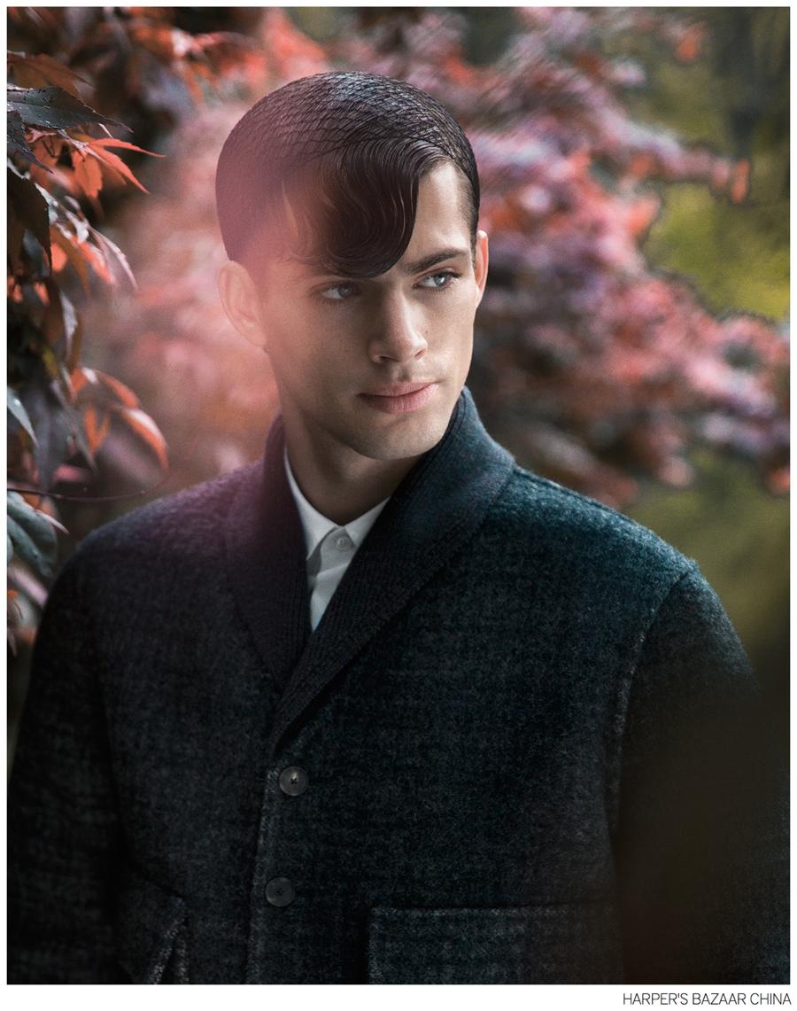 Jamie Wise Ventures Outdoors for Harper's Bazaar Man China Fashion Shoot