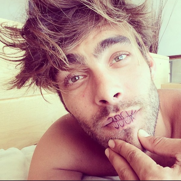 Jon Kortajarena reacts to the news that he made Vogue's list of all-time models.