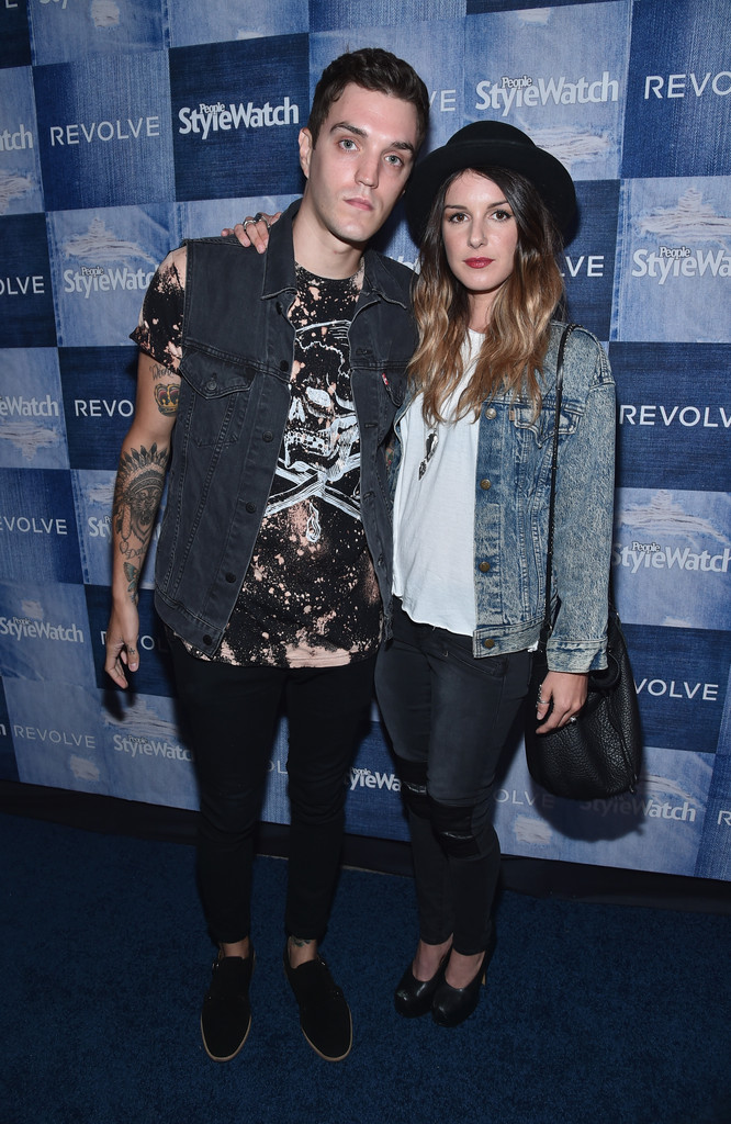 Joining his wife Shenae Grimes for the People StyleWatch Denim event at The Line on September 18, 2014, model Josh Beech wore a coordinated, custom Levi's denim jacket, finished with a graphic t-shirt and black skinny jeans.