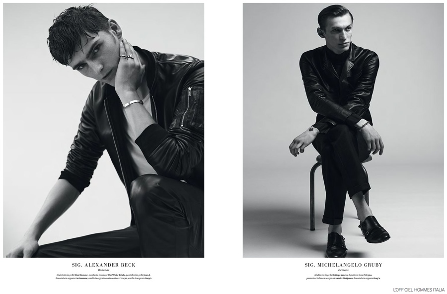 Jester White, Alexander Beck + More Model Fall Leathers for L'Officiel Hommes Italia