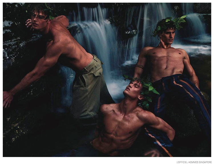 Alexander Johansson, Brad Alphonso + More Star in Greek Mythology Inspired Fashion Editorial for L'Officiel Hommes Singapore