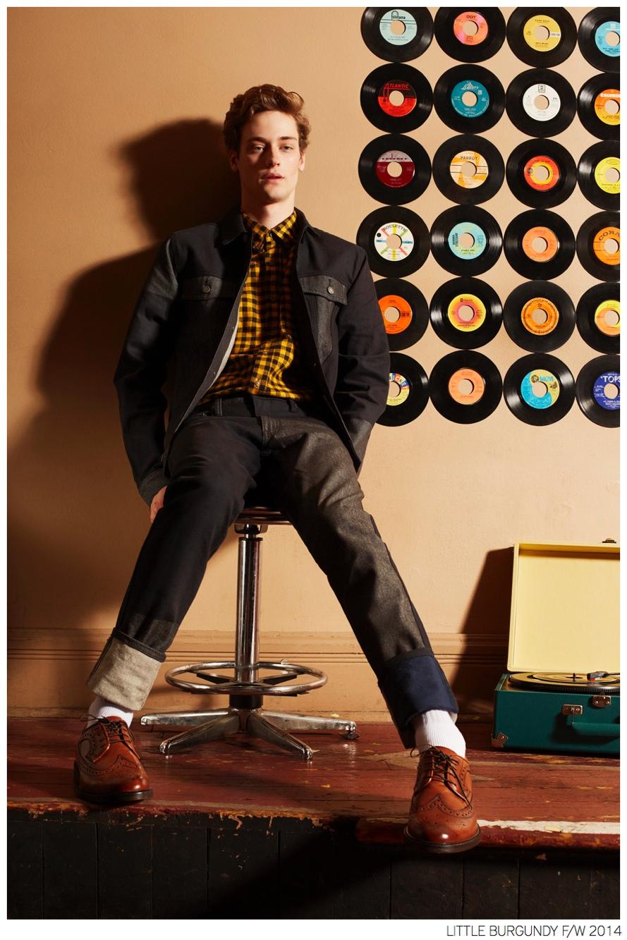 Sam Freedburg Models 60s Inspired Fashion Styles for Little Burgundy