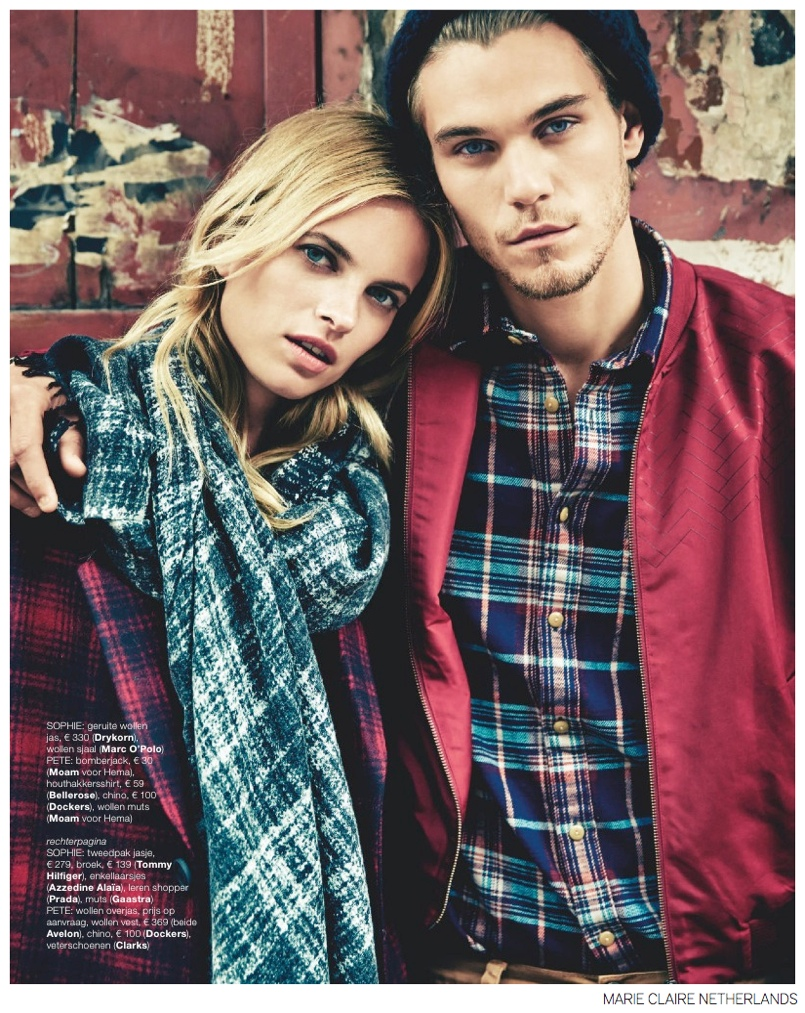 Pete Bolton Enjoys a Fall Romance for Marie Claire Netherlands