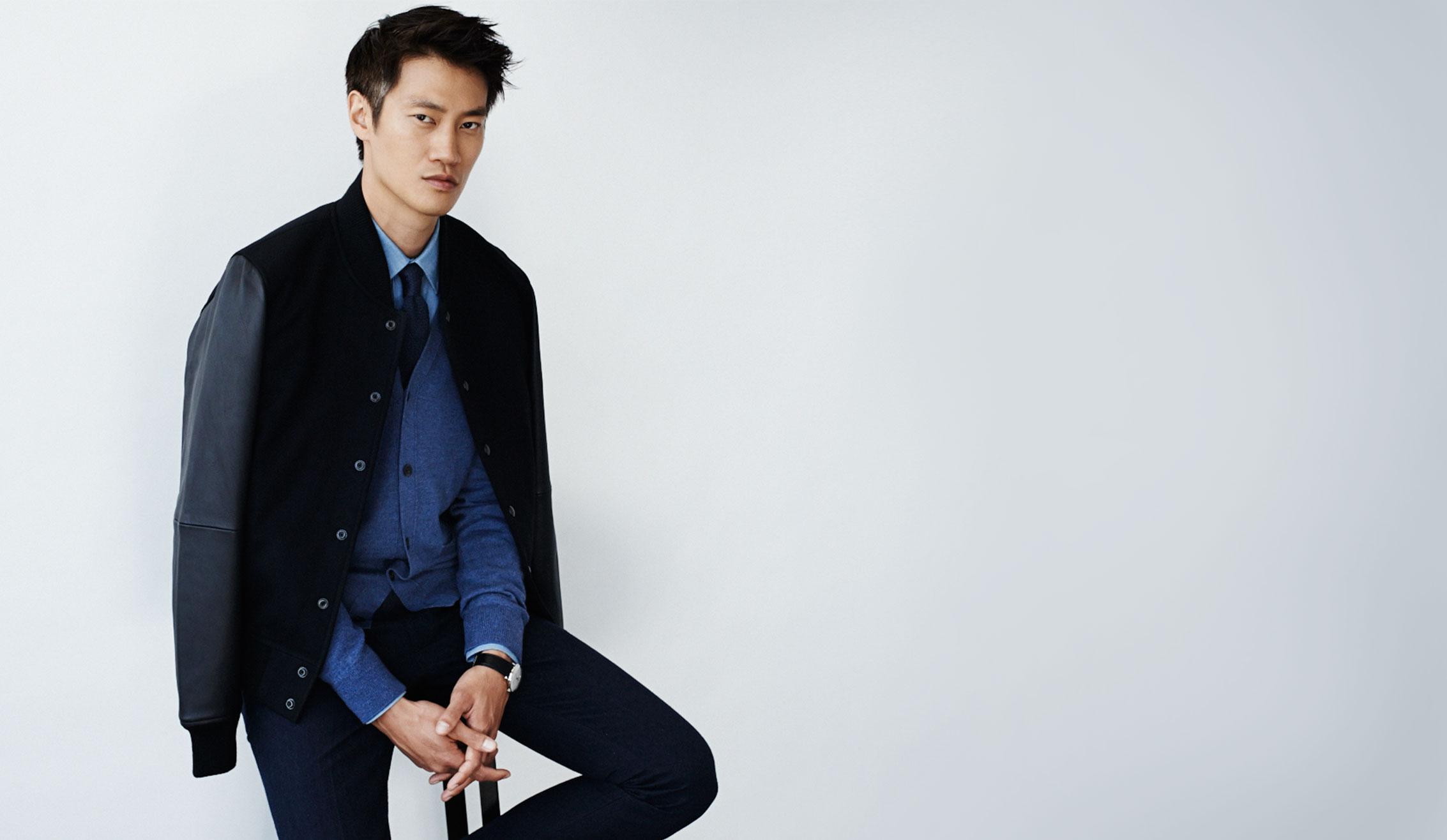 Philip Huang Sports Tonal Fall Fashions for Club Monaco