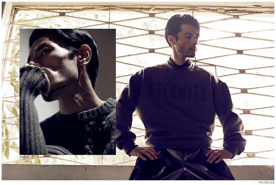 Yusuke Ogasawara Models Sporty Fall Menswear for PIN Prestige