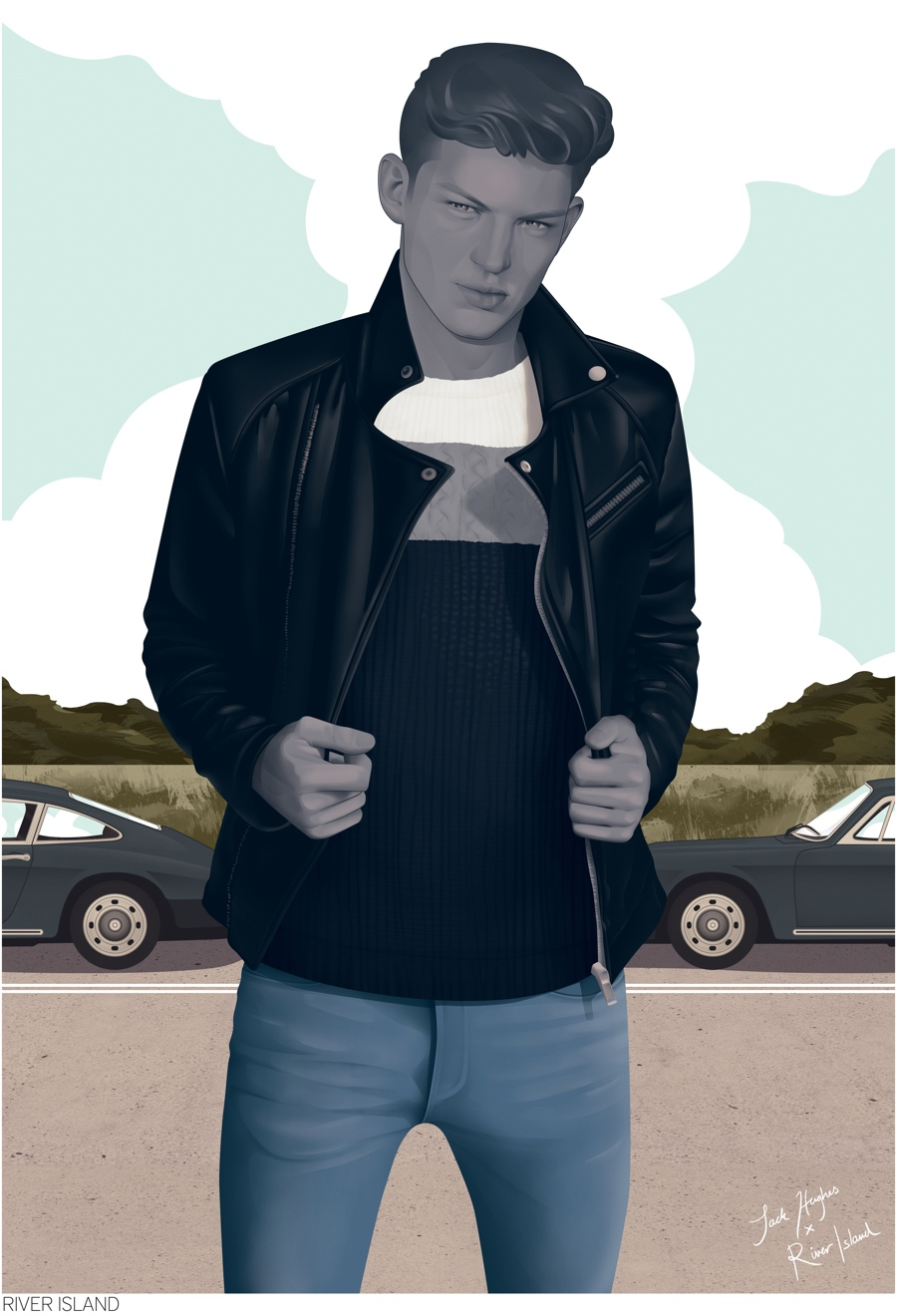 River Island Collaborates with Jack Hughes for Illustrated Look at Fall 2014 Collection