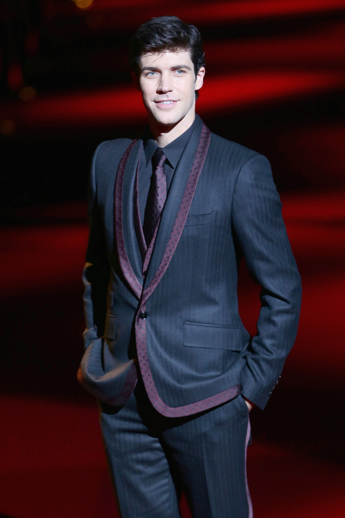 Roberto Bolle Attends Dolce & Gabbana's Spring 2014 Womenswear Show in Style
