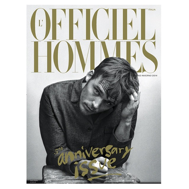 Sam Claflin Covers L'Officiel Hommes Italia Fall/Winter 2014