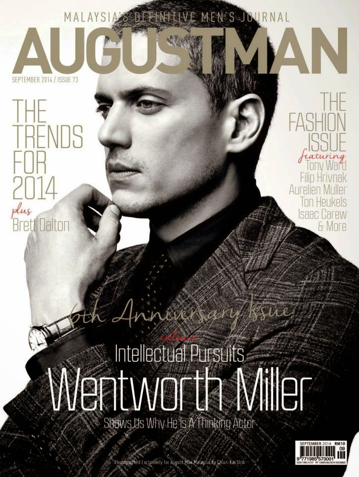 Wentworth Miller for August Man September 2014 Issue