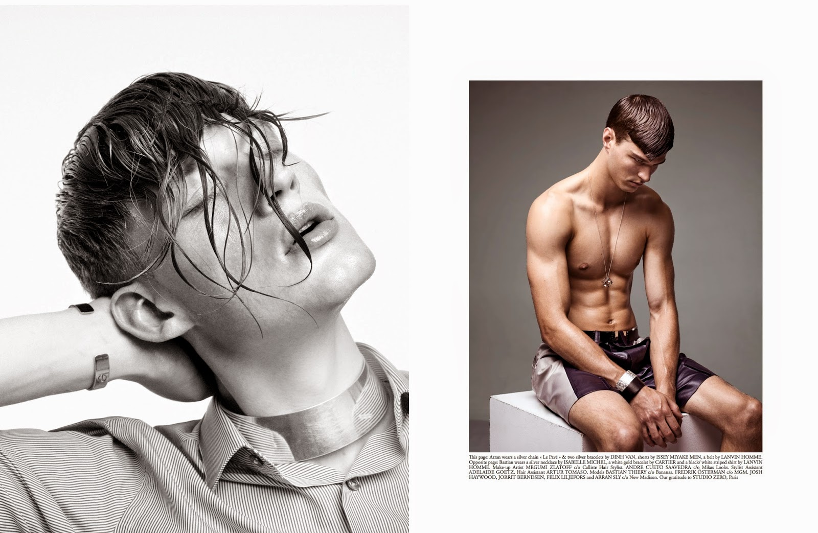 Bastian Thiery, Arran Sly + More in 'Wet Waves' for Narcisse