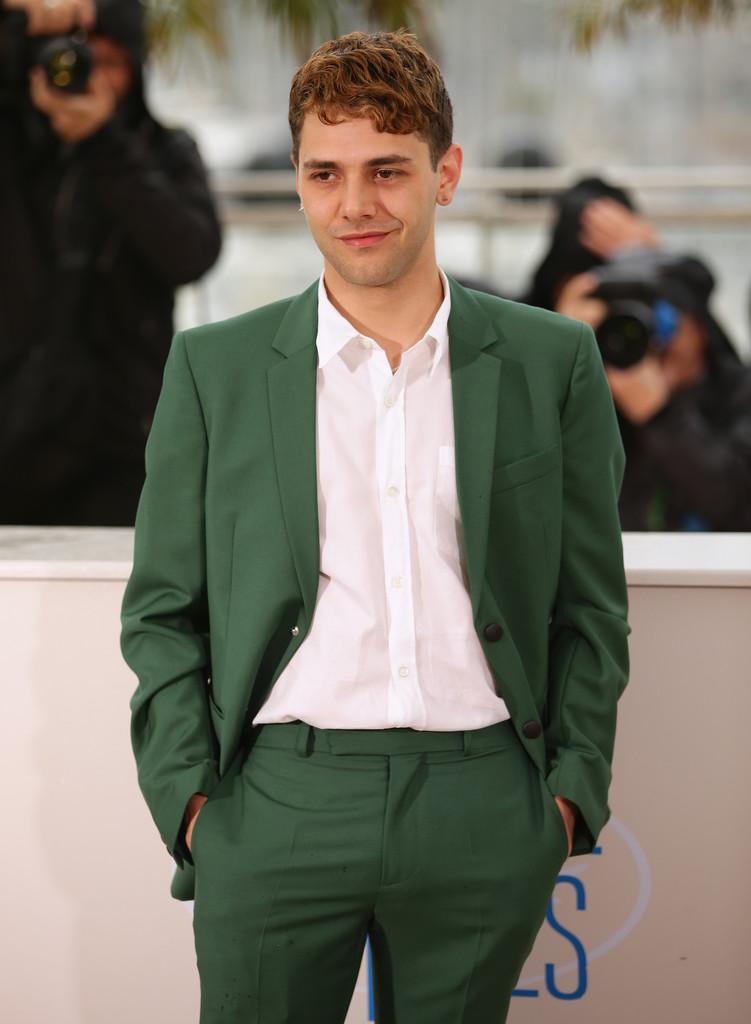 Xavier Dolan Shines in Green KRISVANASSCHE Suit at Cannes