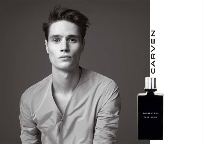 Andrew Westermann Fronts Carven Pour Homme Fragrance Campaign