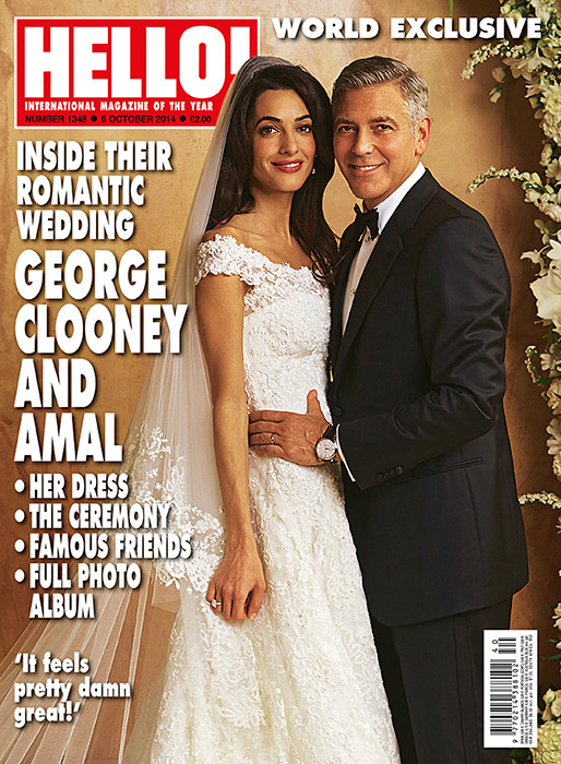 Newlyweds George Clooney & Amal Alamuddin on Hello! Magazine Cover