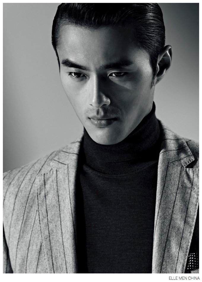 Zhao Lei Embraces Sartorial Fashions for Elle Men China