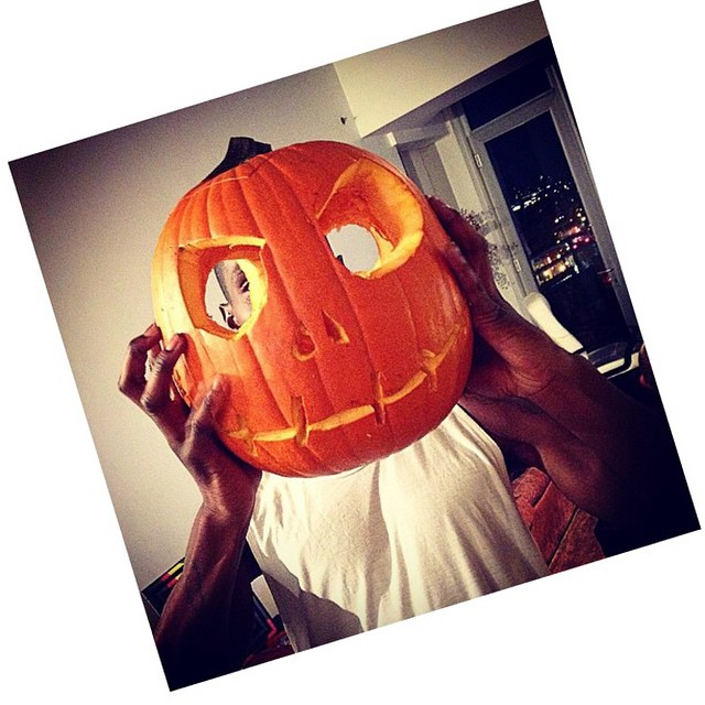 Adonis Bosso achieves the perfect pumpkin head.