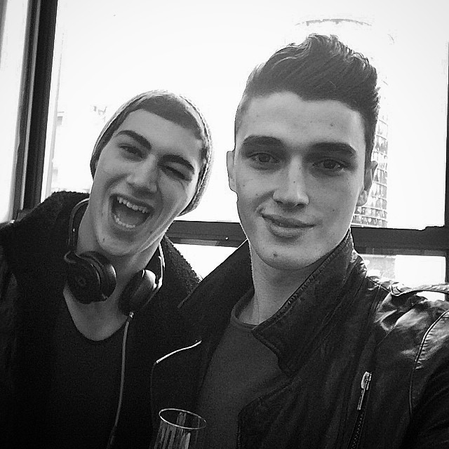 Alessio Pozzi and Matthew Holt pose for a selfie at their New York agency Re:Quest
