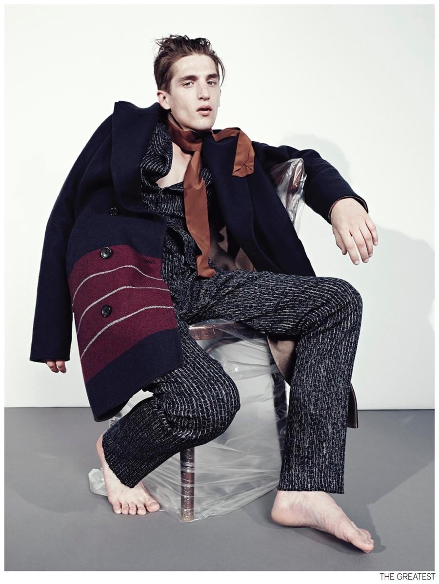 Anatol Modzelewski is Too Weird for Pinstripe + Stripe Fashion Editorial from The Greatest