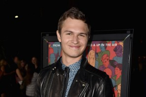 Attending the Los Angeles premiere of 'Men, Women & Children' on September 30, 2014 in Los Angeles, California, actor Ansel Elgort was a trendy young vision in a blue print dress shirt, slim-cut trousers, a black skinny tie and a leather biker's jacket.