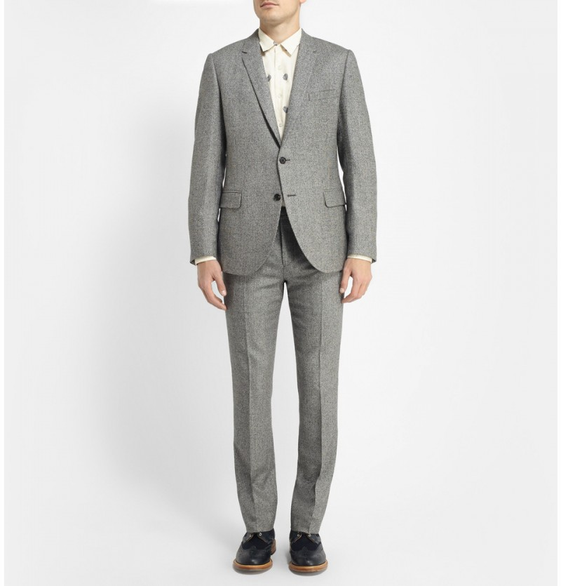 Band Of Outsiders Houndstooth Suit What Color Shoes Go With A Light Gray