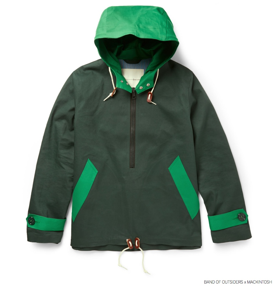 Band of Outsiders Mackintosh Bonded Cotton Pullover Jacket Mr Porter