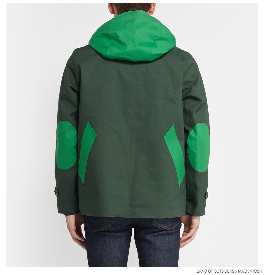 Band of Outsiders Mackintosh Bonded Cotton Pullover Jacket Back