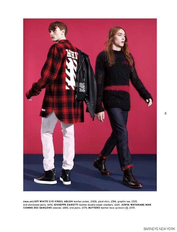 Marley Chapman & Gryphon O'Shea Model Fall Looks for Barneys