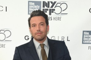 Attending the Opening Night Gala Presentation and world premiere of 'Gone Girl' during the New York Film Festival on September 26 2014, actor Ben Affleck was at his sartorial best in a charcoal three-piece suit, paired with a skinny brown tie.