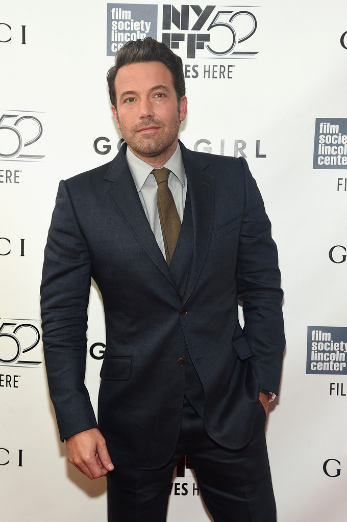 Ben Affleck Wears Three-Piece Suit for 'Gone Girl' World Premiere