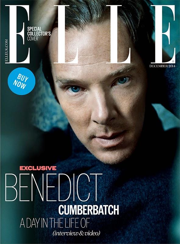 Benedict Cumberbatch Covers Elle UK December 2014 Issue