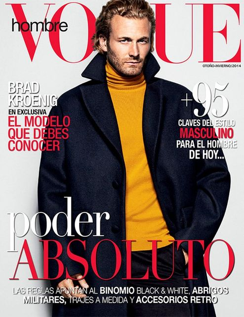 Brad Kroenig Covers Vogue Hombre Fall/Winter 2014 Issue