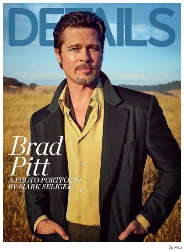 Brad Pitt Covers Details November 2014 Issue