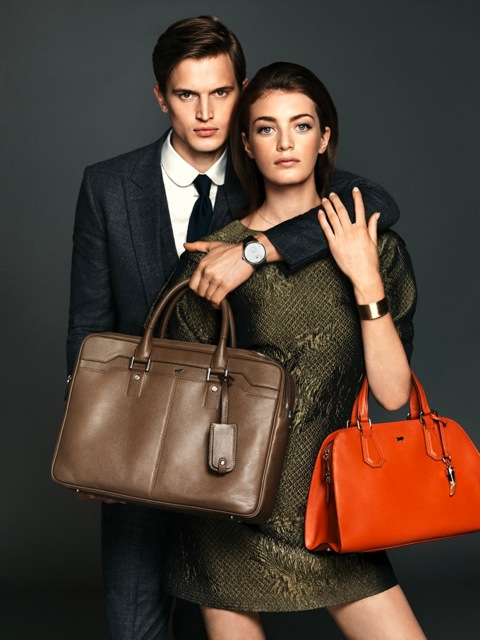 Nick Lagerburg poses with Milly Simmonds for Braun Buffel's campaign lensed by Nico (Gianfranco Meza & Co.) and styled by Claudia Engelmann.